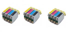 Geschikt Epson T0711 tot T0714 met chip 3x Set  van inktpatronenexpress