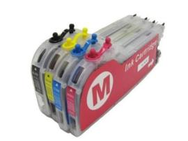 Geschikt Brother LC-970 / LC-1000 set van 4 navulbare cartridges van inktpatronenexpress