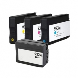 HP 932 XL & 933 XL set 4 met chip  Huismerk