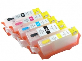 Canon PGI-520 CLI-521 refill cartridges met ARC - Reset chip