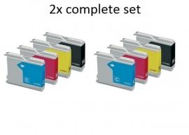 Geschikt Brother lc-970 / lc-1000 2x Set  van inktpatronenexpress