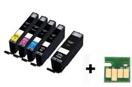 Set Canon Pgi-550 en Cli-551 XL serie met chip huismerk