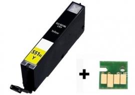 Canon Cli-551 XL geel met chip huismerk