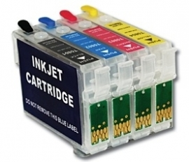Epson T0711 - T0714/ T0715 refillable Cartridge-set 4 (met ARC chip)
