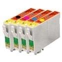 Set Epson T0711 tot T0714 huismerk met chip