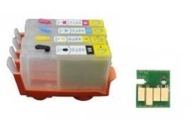 Geschikt HP 364 hervulbare cartridges 4 (met ARC chip) van inktpatronenexpress
