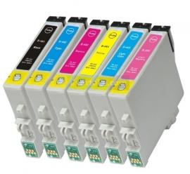 Set Epson T0481 tot T0486 huismerk met chip