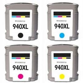 Geschikt Set hp 940 XL met chip van inktpatronenexpress
