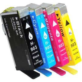 Geschikt HP 903 XL Zwart  & 903 XL kleuren set met chip van inktpatronenexpress