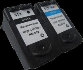 Set Canon Pg-510/512 en Cl-511/513 huismerk