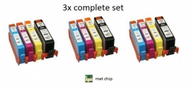 3x set Hp 364xl met chip huismerk