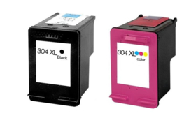 Set Hp 304 XL Zwart en Kleur huismerk