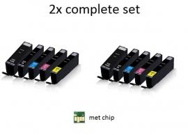 2x Set Canon Pgi-550 en Cli-551 XL serie met chip huismerk
