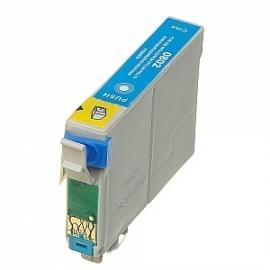 Epson T0802 cyaan huismerk met chip