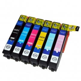 Set Epson T2431 tot T2436 XL huismerk met chip