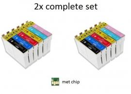 2x Set Epson T0801 tot T0806 huismerk met chip