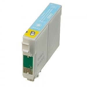 Geschikt Epson T0805 licht cyaan  met chip van inktpatronenexpress