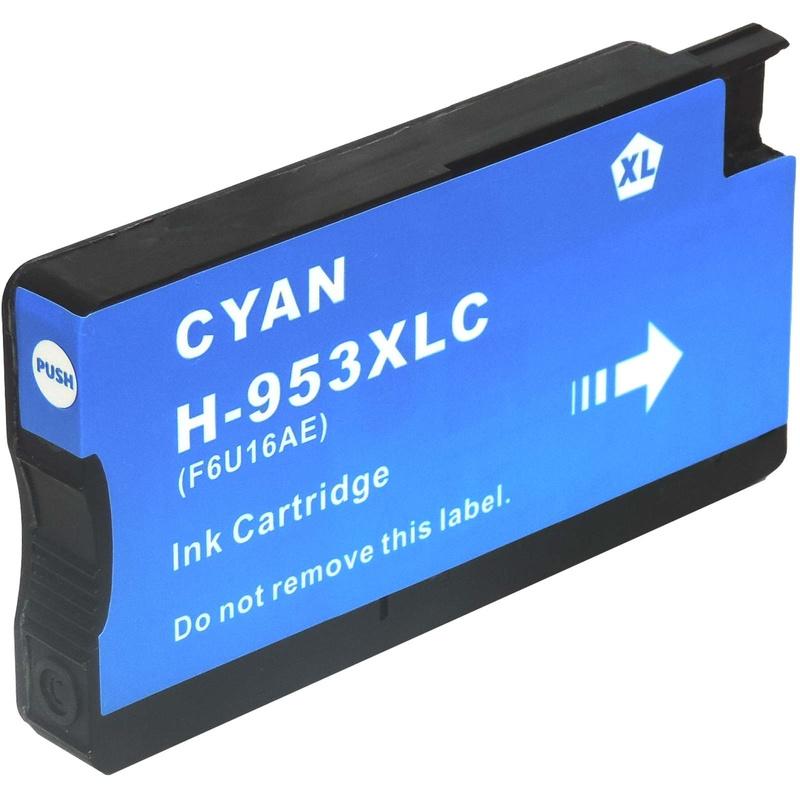 HP 953 XL Cyaan met chip Huismerk