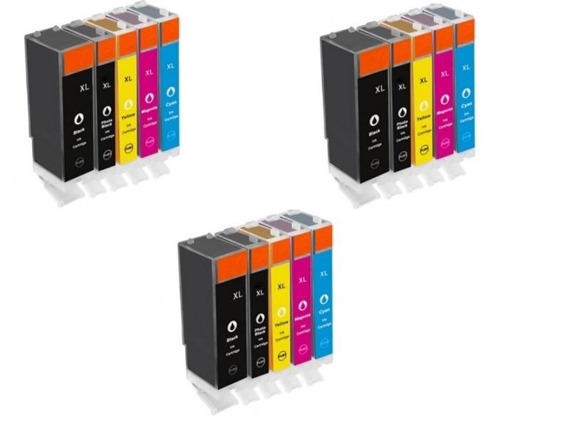Geschikt Canon Pgi-570 en Cli-571 XL serie met chip 3x Set van inktpatronenexpress