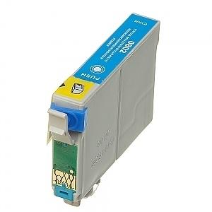 Geschikt Epson T0802 cyaan met chip van inktpatronenexpress
