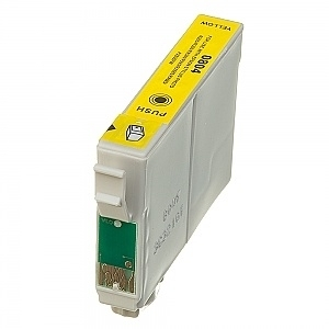 Geschikt Epson T0804 geel met chip van inktpatronenexpress