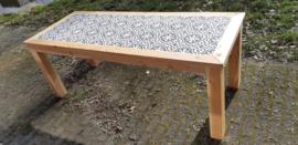 WINTERAANBIEDING Tuintafel Douglas met Portugese cementtegels