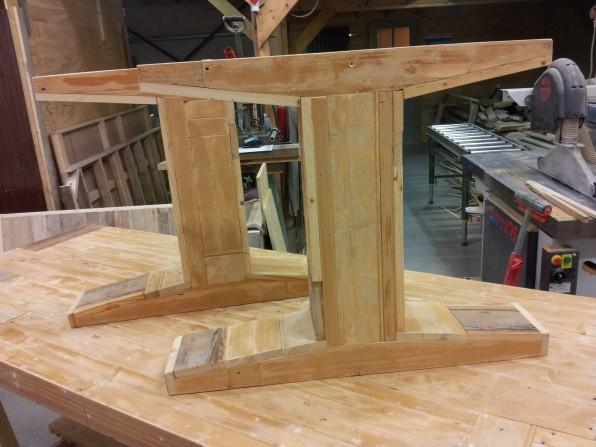 T-Poten voor sloophout tafel
