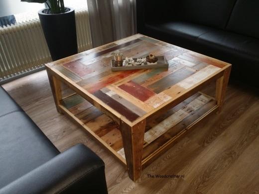 sloophout salontafel met onderplank Titus Brandsma wijkcentrum