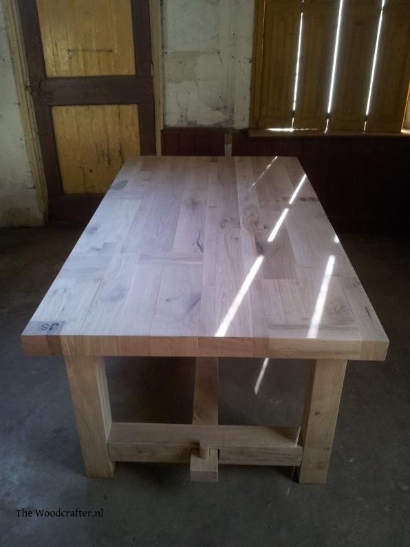 Eiken tafel Patchwork