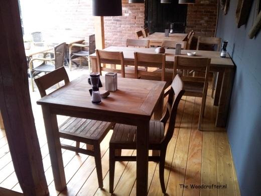 restaurant tafels terras Woody's Steenwijk