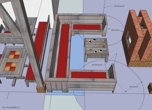3D visualisatie Loungehoek