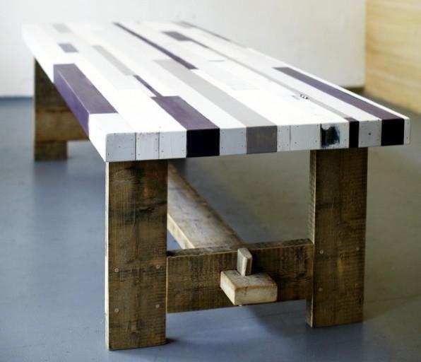 Mixed Wood Tafelblad.Sloophouten Tafels The Woodcrafter