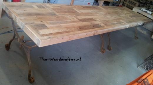 tafel 4 meter sloophout