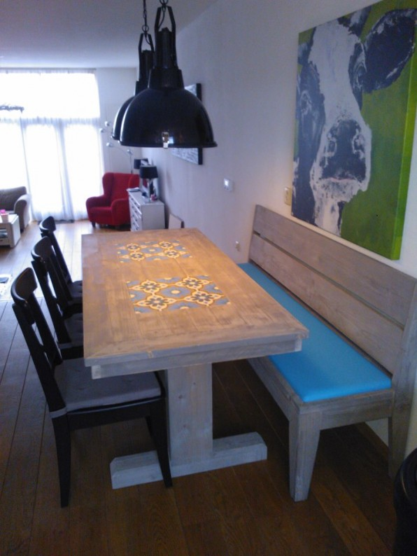 Steigerdeel tafel T-Poot grey