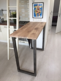 Sta tafel met stalen kokerprofiel