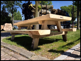 Stam-picknick tafel abeel stuurde