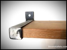 Wandplank  2 cm dik met stalen beugel