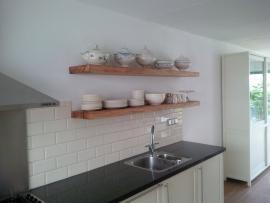 Eiken keuken plank / opbergplank
