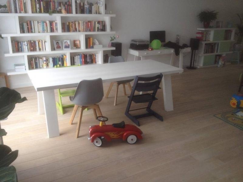 Eiken tafel Smalle witte