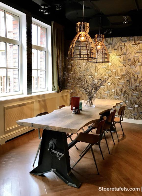 Eettafel Hoog Bar.Sta Tafels Met Houten Onderstel Of Met Stalen Onderstel