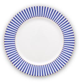 Pip Studio Royal White Stripes ontbijtbord