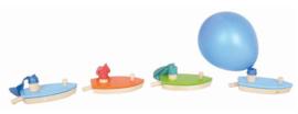 Bootje met ballon blauw