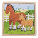 Puzzel paard met veulen