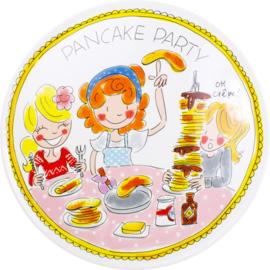 Blond pannenkoek bord