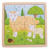 Puzzel schaap met lam