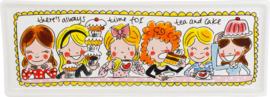 Blond cakeschaal