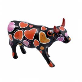 Cow parade Cowe en of hearts medium