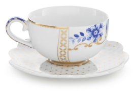 Pip Studio Royal White espresso kop & schotel