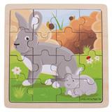 Puzzel konijn met lamprei