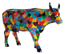 Cow parade Heartstanding large
